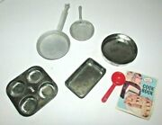 Darling Vintage Childrens Toy Tin Cooking Pans And Booklet Argo Junior Chef