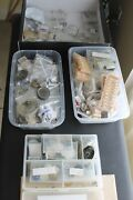 Huge Watch Parts Lot Vintage Watchmaker Movements Dials Crowns Pocketwatch
