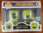 Funko Pop The Simpsons Kang And Kodos Gitd Sdcc Official W/ Protect Signed