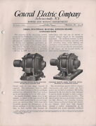 1914 General Electric Company Schenectedy Ny Power And Mining Dept Polyphase Motor