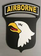 8 Us Army 101st Airborne Division Screaming Eagles 3d Military Unit Plaque