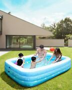 Inflatable Swimming Pool, Family Kiddie Pool Full Sized For Family, Backyard