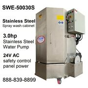 Spray Wash Cabinet Stainless Steel Parts Washer Cabinet Swe-50030s - 1250lb Cap