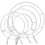 Wedding Metal Wreath Round Backdrop Stand Arch Backdrop Iron Stand Flower Frame