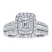 1.50 Ct Real Diamond Wedding Ring For Women Solid 950 Platinum Ring Size 5 6 7 8