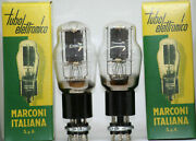 6l6g Tube Marconi Italy Power Tubes Matched Pair Valve Amplifier Kt66 350b 6l6