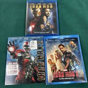 Marvel Iron Man 1, 2, And 3 Blu Ray Trilogy