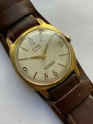 Rare Vintage Men Watch Civis 17 Rubis Rrr Collection Gold Plated Antimagnetic