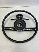 Early Style Black Steering Wheel With Center Fits Mercedes W110 W111 W112 W113