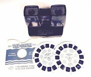 Vintage Sawyer's Viewmaster Model E Viewer And 2 Virgin Island 3d Reels