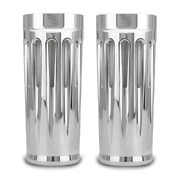 2 Extend Deep Cnc Cut Chrome Fork Cans Boots Cover For Harley Touring Flhr Flhx