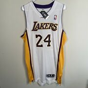 New Nwt Authentic Adidas Rev 30 Kobe Bryant Jersey Los Angeles Lakers White Xl