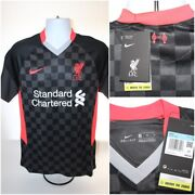 Nwt 90 Mens Nike 2020-21 Liverpool Soccer 3rd Jersey Cz3197-060 Black Size M