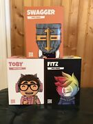 Misfits Youtooz Fitz, Toby And Swaggersouls. Unopened, Code Not Scratched.