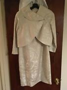 Brand New Never Worn With Tags Cream Colored Tahari Jacket Dress Size 10