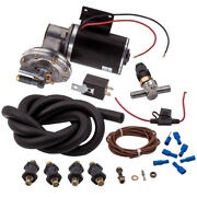 12v Electrical Power Brake Booster Vacuum Pump W/pressure Switch 18 To 22 Us
