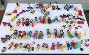 Playmobil 70s 80s 90s Lot Of People Accessories Autoshop Playground Figures