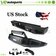 For Silverado 2500 15-17 Premium Rear Front Bumper W Led Lights Winch Well-made
