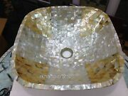 Square Shape Marble Bathroom Accessory Hand Crafted Kitchen Sink With Mop Work