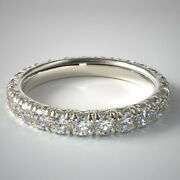 Real 1.50 Ct Diamond Ladies Engagement Band Solid 950 Platinum Bands Size 6 7 8