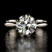 0.50 Ct Real Round Cut Diamond Wedding Ring Solid 950 Platinum Rings Size 7 8 9