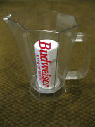 Budweiser Polar Pitcher Plastic With Ice Chamber - Keeps Your Beer Frosty Cold