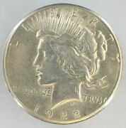 1922-s 1 Peace 90 Silver Dollar Us Coin Bright White H1545