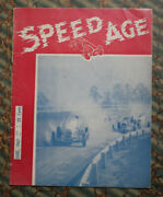 Speed Age 2 1947 Auto Racing Magazine Motorcycles Stunt Driver Indy 500 Nascar