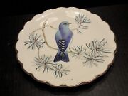 Royal Worcester The Birds Of Dorothy Doughty Plate Mountain Bluebird And Pine