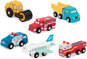 Battat - Wooden Vehicles – Miniature Toy Cars And Trucks Multicolor