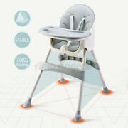 Children Foldable Baby High Chair Safe Feeding Highchair Adjustable Height Seat