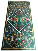 30 X 72 Inch Marble Inlay Table Top Stone Dinning Table Floral Work Home Assents
