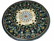 48 Inch Marble Hallway Table Top Inlay Office Meting Table Beautiful Floral Work