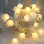 20x6 Meter 40 Light Christmas Pine Cones Led St Lights Battery Operated Fairy