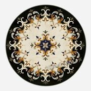 42 Inches Patio Dining Table Top Marble Sofa Table Pietra Dura Art Home Decor