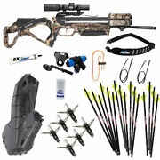 Excalibur Twinstrike Crossbow Ultimate Package - New For 2021 - Mossy Oak Buc