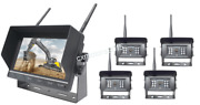 Wireless Backup Camera System W/ 7 Quad Lcd And 2 3 Or 4 Cam Options Truck