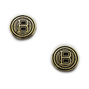 Custom 2 Browning Grip Medallions Hi-power B Challenger Real Gold Plated