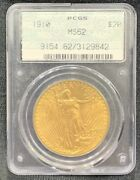 1910 Doily Gold S20 Liberty Eagle Pcgs Ms62 Old Green Rattler Holder Bu Ms Ogh