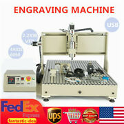 Usb 2200w 4 Axis 6090 Cnc Router Engraver Metal Wood Engraving Drill Milling Vfd