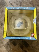 Dr. Seuss Horton Hears A Who Enamelware Set New With Box