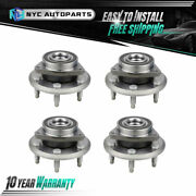 Front And Rear Wheel Hub Bearing For 2007-2016 Chevy Traverse Gmc Acadia Enclave