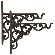 20x2 Pack Cast Iron Plant Hanger Hanging Planters Basket Wall Hook With