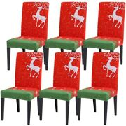 20xchristmas Restaurant Chair Cover Sofa Cover Six Sets Of Elastic Soft