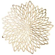 20x10 Pack Pressed Vinyl Metallic Placemats/charger/wedding Accent Centerpiece