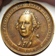 C.1890 George Washington Private Indian Peace Medal 62.7 Mm Copper 1