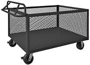 Durham 4-sided Stock Cart - 36wx24dx29-1/2h - Mesh Sides