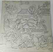 Vintage Bouquet Of Roseswax Stencils Textile Painting By Vera Waters 4 Sheets