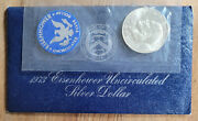 1973 1 Eisenhower 40 Silver Dollar Uncirculated Mint Cello - Buy More And Save
