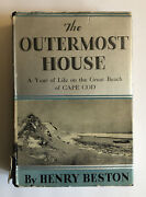 The Outermost House Signed By Henry Beston 1933 Hardcover Dust Jacket Cape Cod